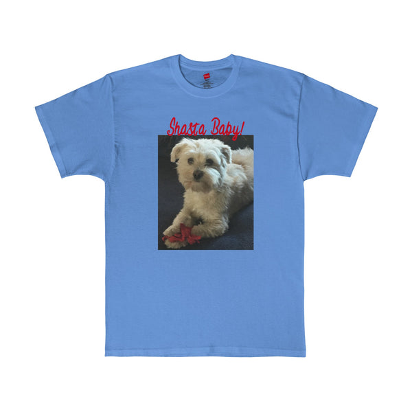 Personalized Custom Pet Cat Dog Photo Text Tee T-Shirt Made In USA