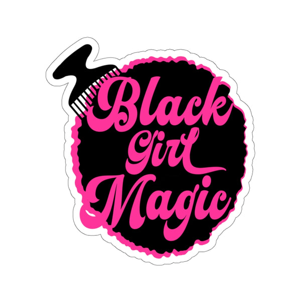 Black Girl Magic Sticker, Afro Girl, Afro Puffs, Tumbler Sticker, Window Decal, Laptop Sticker, Planner, Afro Lady, Fashion Girl Clipart
