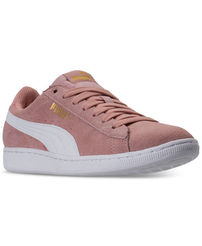 Puma Women's Vikky Casual Sneakers Peach Beige White Size 7.5