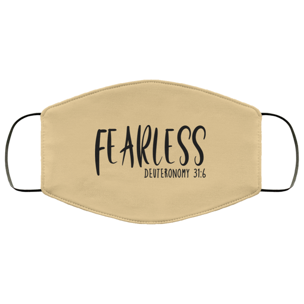 Fearless Deuteronomy 31 6 FMA Face Mask