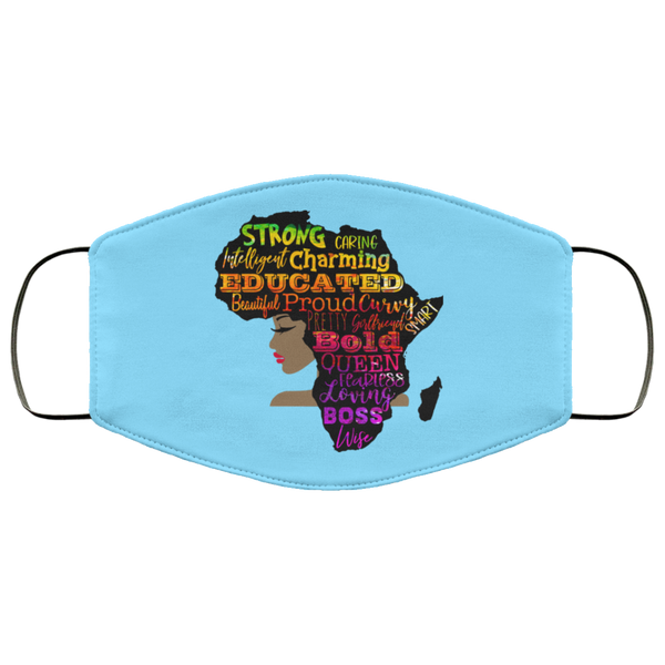 FMA Face Mask Africa Word Cloud Woman