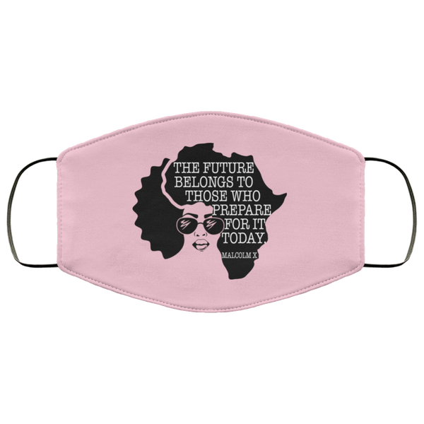FMA Face Mask Afro Woman Malcolm X Quote