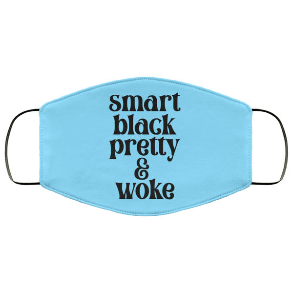 FMA Face Mask Smart Black Pretty Woke text design