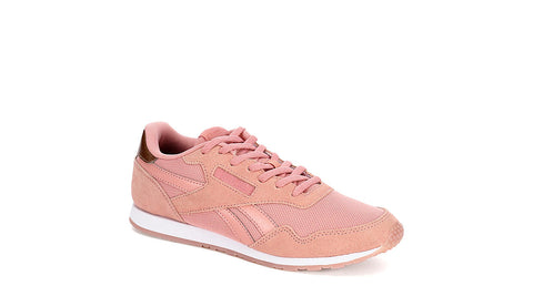 Reebok Royal Ultra Shoe Pale Pink Suede OrthoLite Sneaker Size 7.5