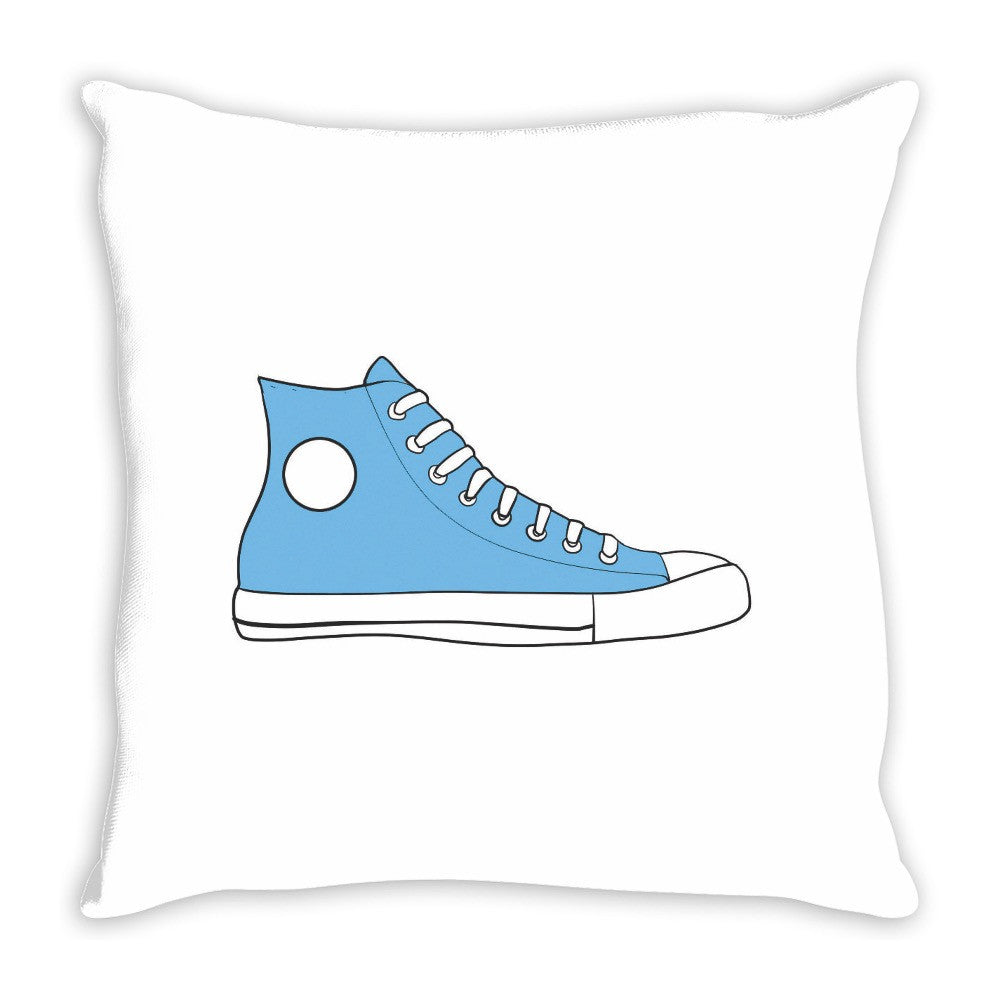Blue High Top Sneaker Pop Art Throw Pillow 14 x 14