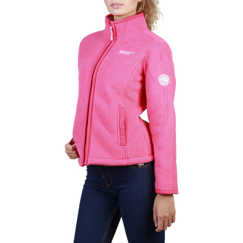 Geographical Norway Tapir Women's Dark Coral Full-Zip Sweatshirt Jacket
