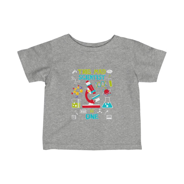 This Mad Scientist is One 1 Year Old Birthday Infant Fine Jersey Tee