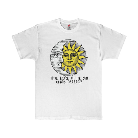 Illinois Total Eclipse of The Sun 2017 T-Shirt in 13 Colors Unisex Sizes S-5XL