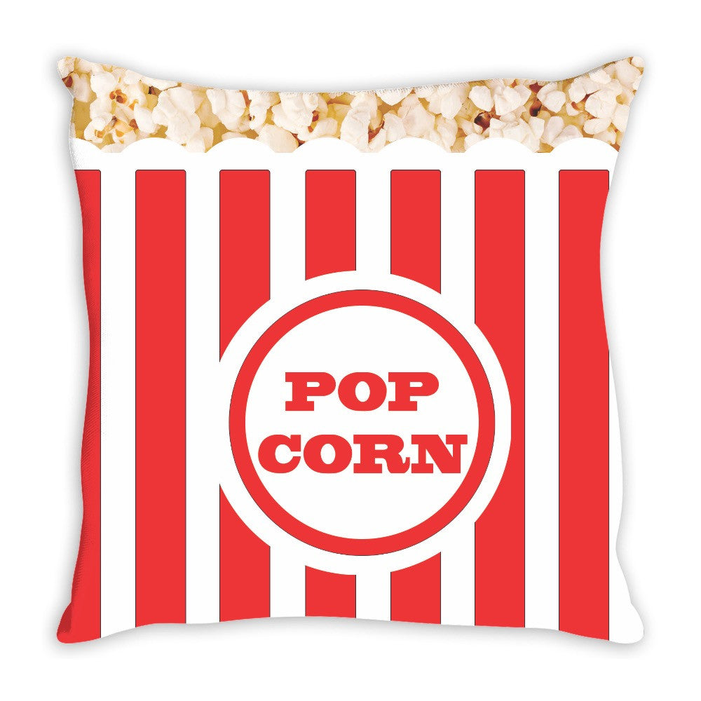 Did Someone Say Movie Night? Popcorn Throw Pillow 14 x 14