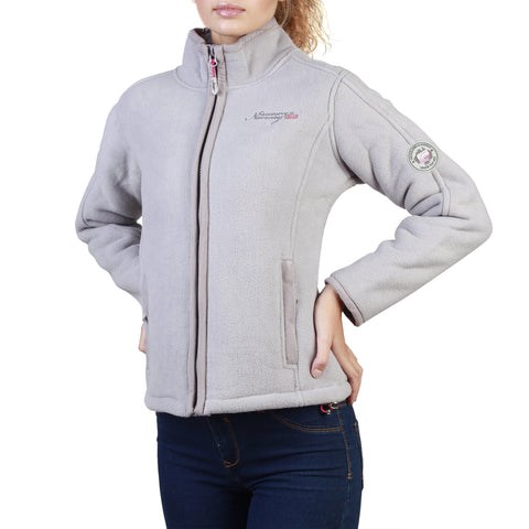 Geographical Norway Tapir Women's Light Grey Full-Zip Sweatshirt Jacket