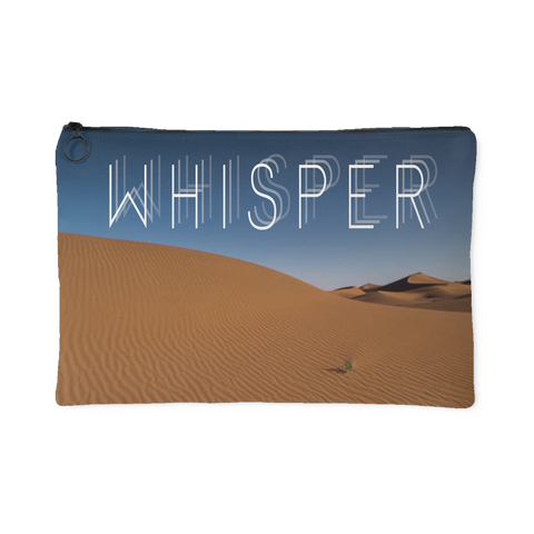 Whisper - Sand Dunes Landscape Zipper Accessory Clutch in 2 Sizes