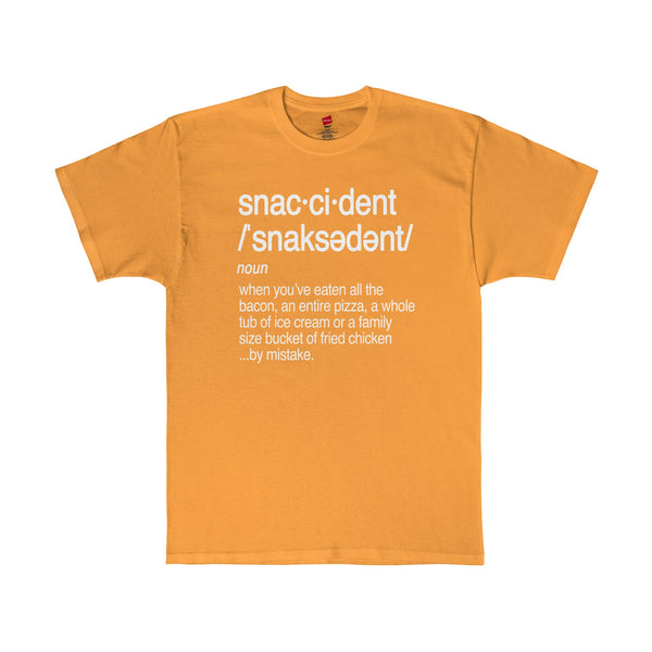 Snaccident Definition T-Shirt White Graphic Tee in 11 Color Options