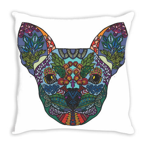 Chihuahua Original Zentangle / Stylized Art Throw Pillow 14 x 14