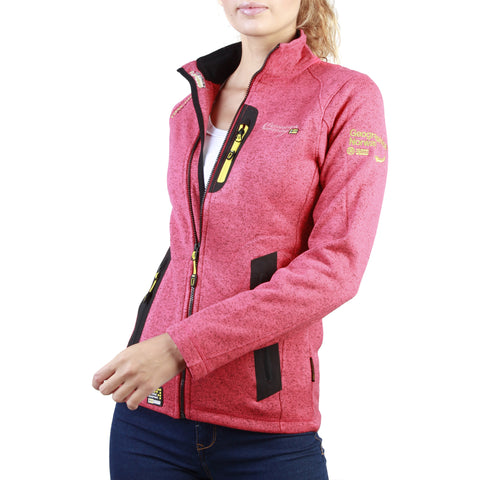 Geographical Norway Tazzera Women's Coral Full-Zip Sweatshirt Jacket