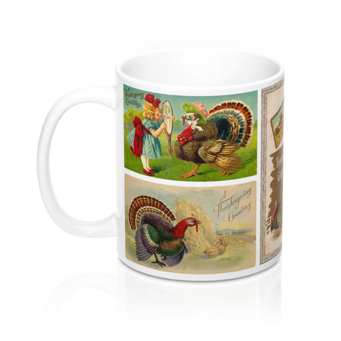 Thanksgiving Greetings Vintage Postcards Design Coffee Mug