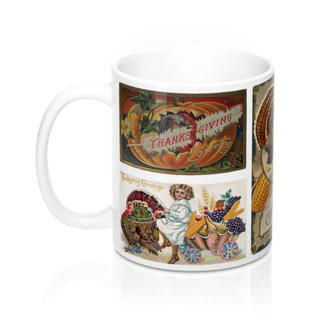Thanksgiving Greetings Vintage Postcards Design 2 Coffee Mug