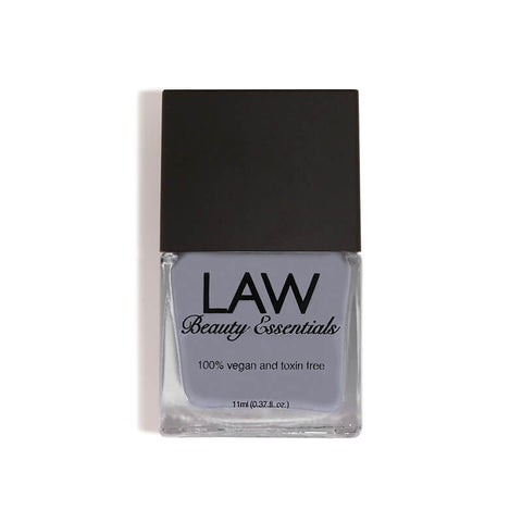 LAW Beauty Essentials Nail Polish in Leave a Text Dark Gray