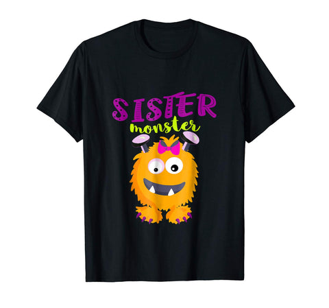 Monster T Shirt for Girls and Sisters Halloween Costume Tee
