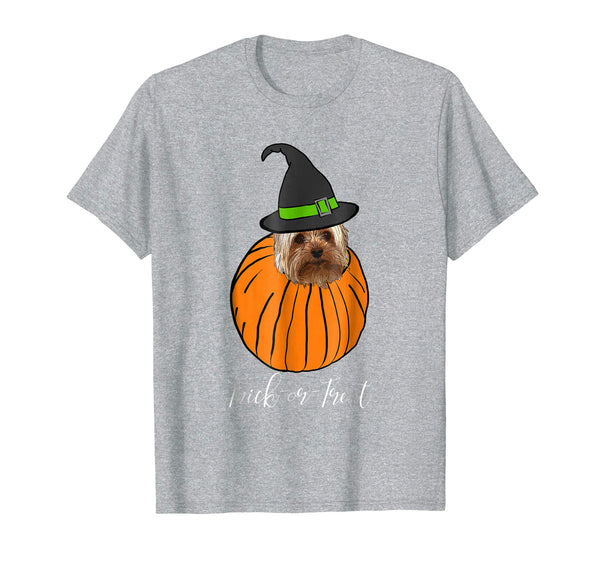 Halloween Shirt Yorkie Mom Pumpkin Trick Or Treat T-Shirt