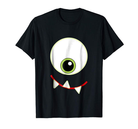 Halloween Costume One Eye Fangs Smile Monster Graphic Shirt