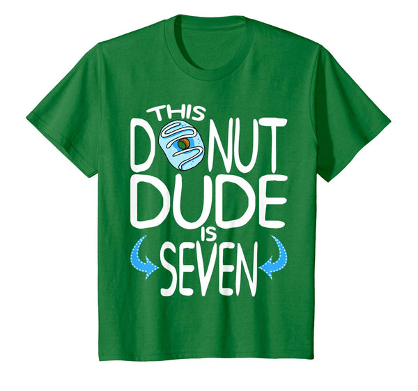 Kids Donut Dude Donut Birthday Party T-Shirt Gift for Boys All Ages 1 2 3 4 5 6 7 8 9 10 11 12 Years Old Personalized