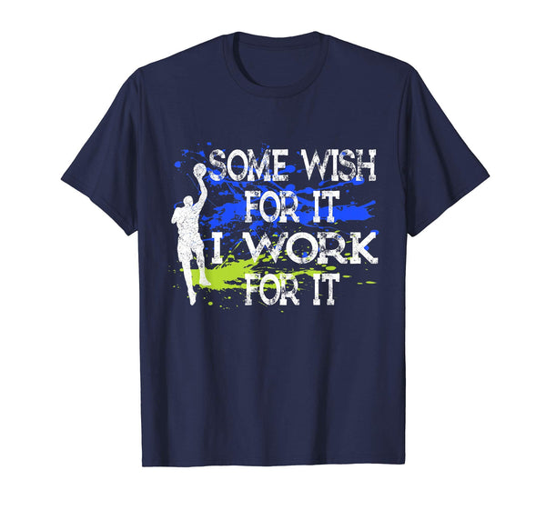 I Work For It Basketball Shirt Birthday Party Games Players