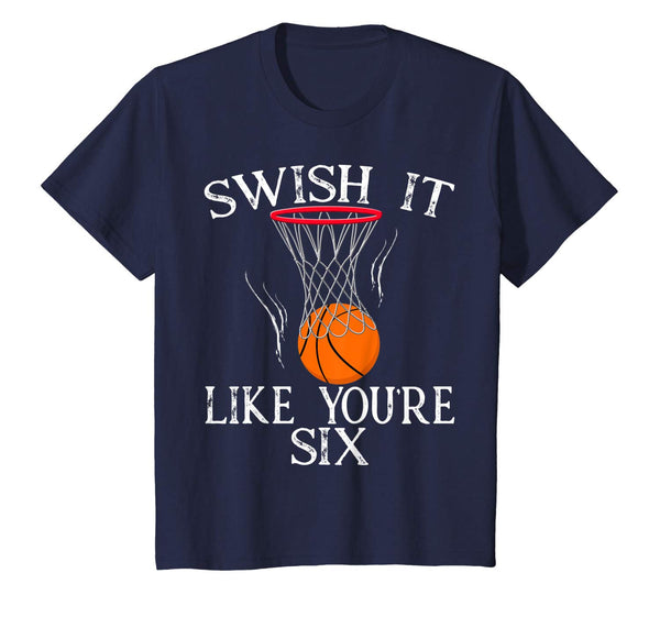 Birthday Swish It Like You're  Basketball Shirt Party All Ages 1 2 3 4 5 6 7 8 9 10 11 12 Years Old Personalized
