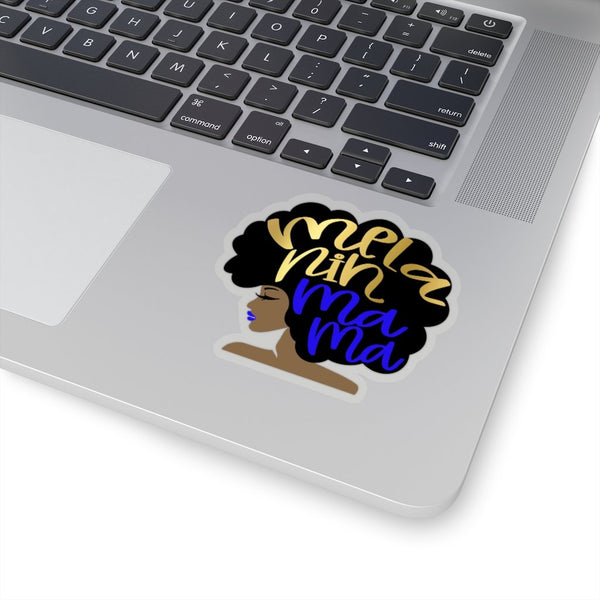 Melanin Mama Sticker, Melanin Poppin, Black Girl Magic, Grad Cap Topper, Afro Planner Water Bottle Decal, Laptop Sticker, Baby Shower Gift