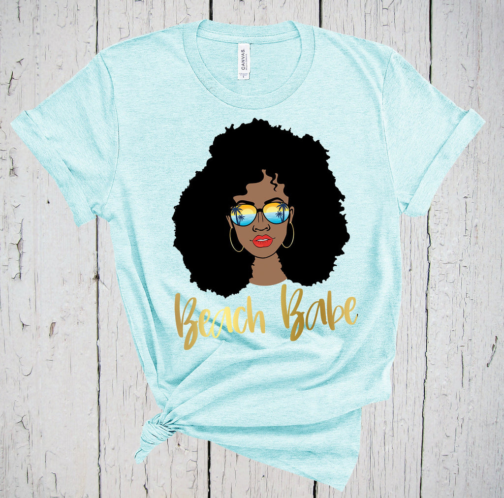 Beach Babe, Black Girl Magic, Beach Bride, Beach Please, Black Queen, Beach Wedding, Afro Girl, California Shirt, Hawaii Shirt, Florida Tee