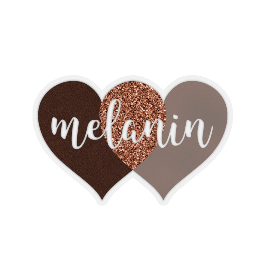 Melanin Hearts Sticker, Black Girl Magic, Brown Skin Nubian Queen, BLM Afro Woman, Goddess Car Window Decal, Black Power, Laptop Hydro Flask