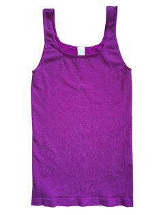 Tees by Tina Sparkle Tank Top in Purple, Size: One Size - Swanky Bazaar