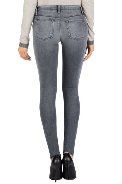 J Brand 620 Close Cut Super Skinny Mid-Rise Destroyed Jeans in Nemesis, Size 28 - Swanky Bazaar - 2