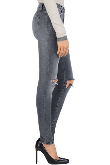J Brand 620 Close Cut Super Skinny Mid-Rise Destroyed Jeans in Nemesis, Size 28 - Swanky Bazaar - 3