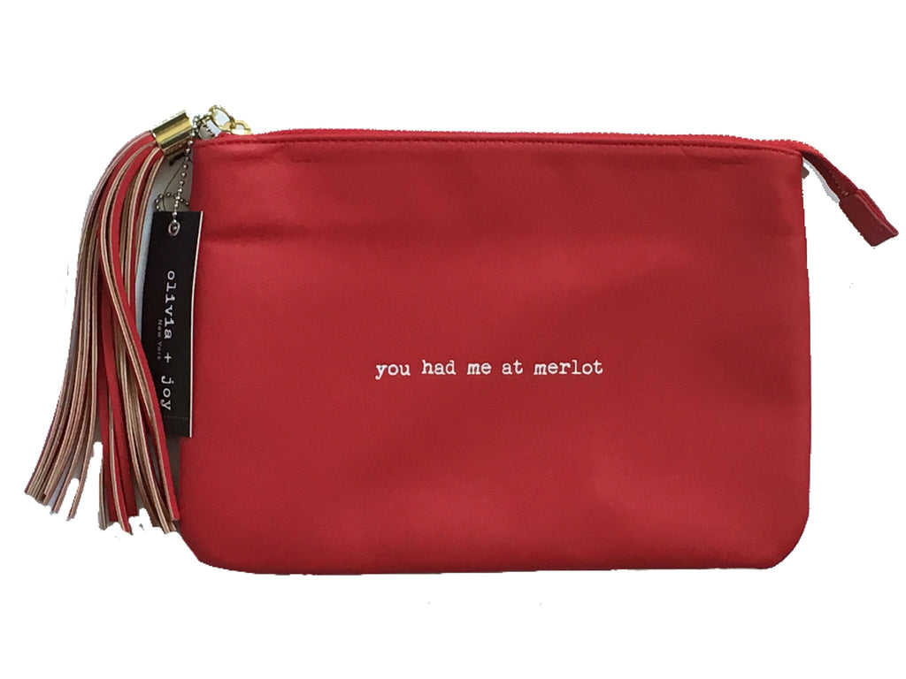 Olivia + Joy Josephine Collection Lipstick Red You Had Me At Merlot Clutch