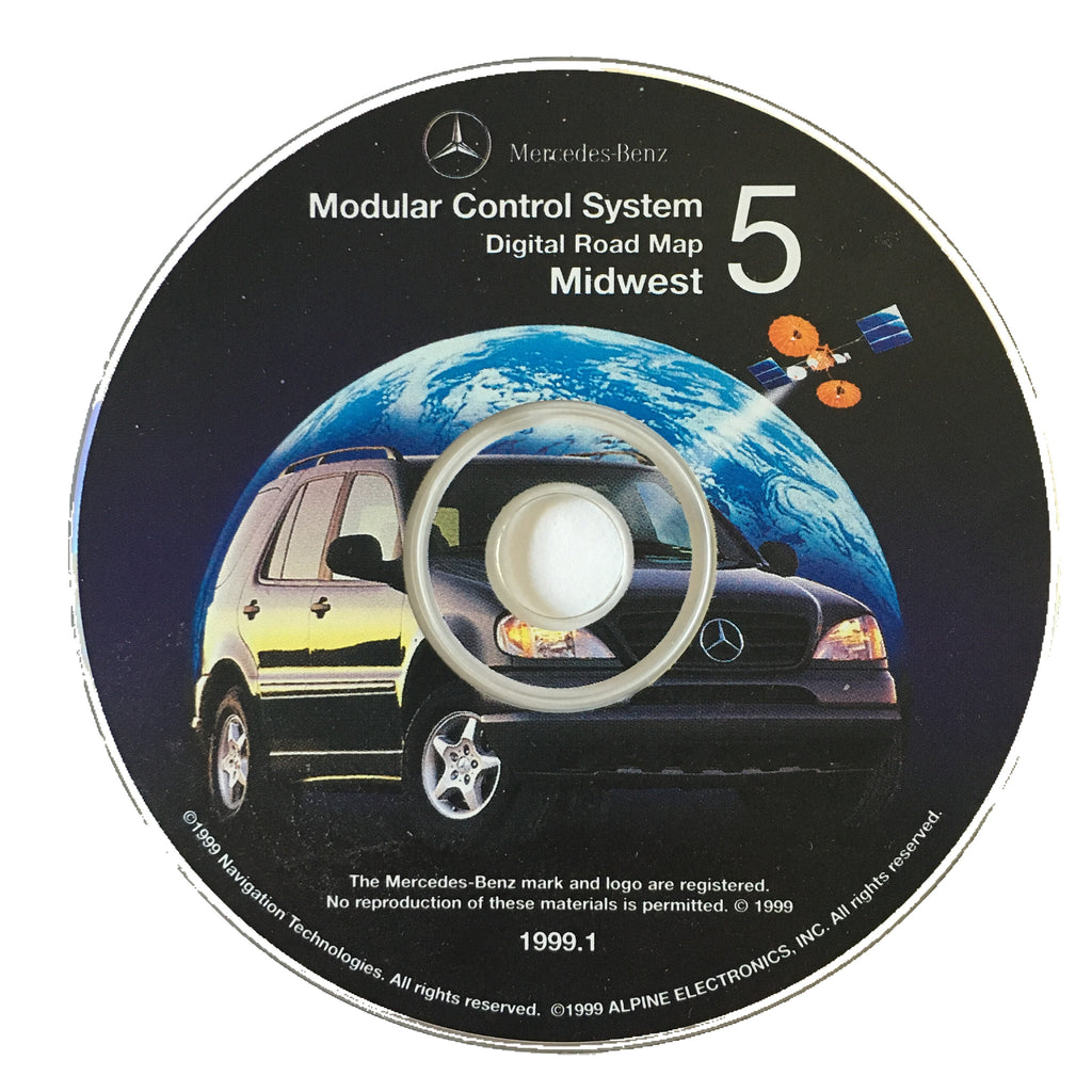 Mercedes Modular Control System Digital Road Map CD - 1999 - Midwest 5