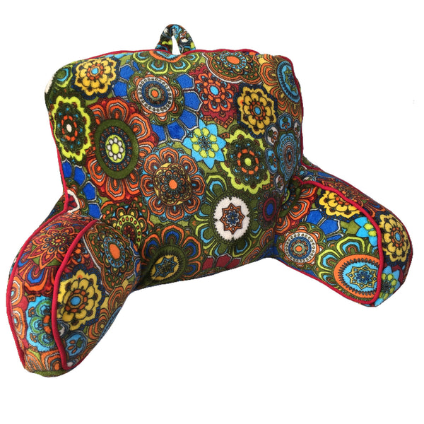 Sun Yin USA Flower Power Design Plush Backrest Bed Cushion / Back Support Pillow