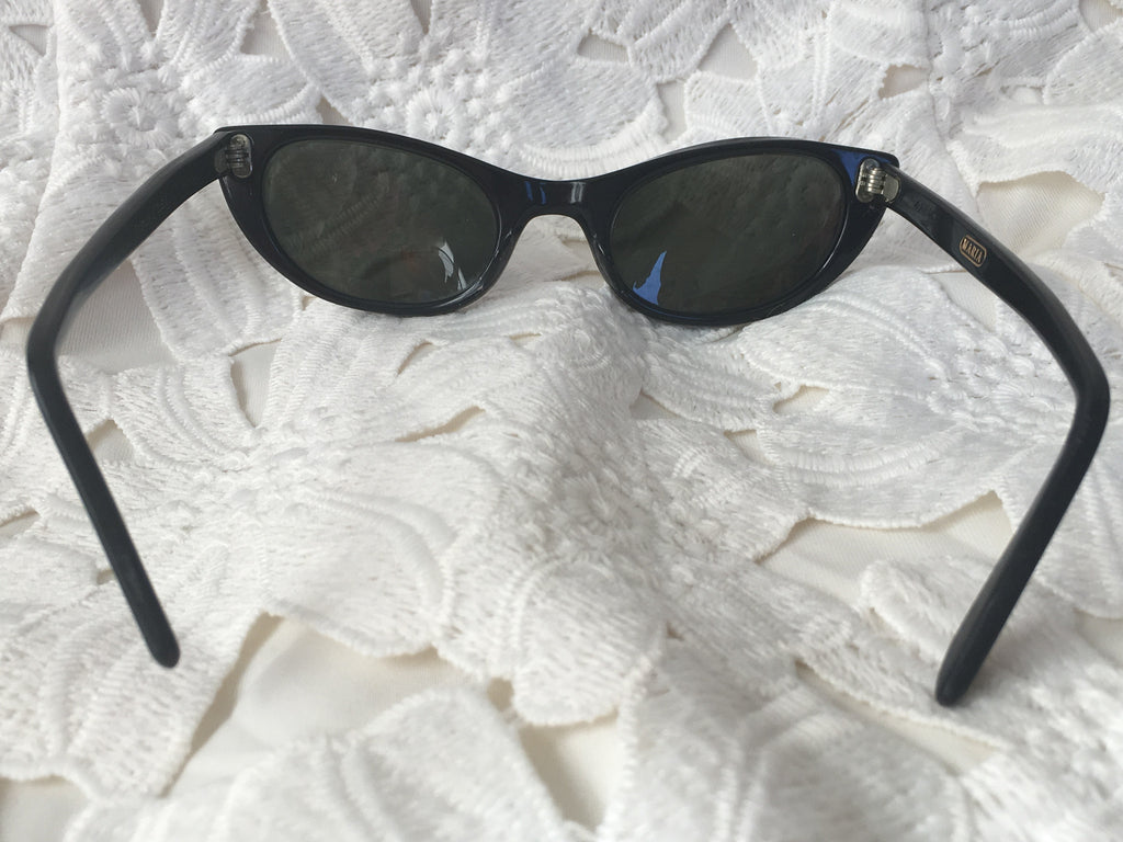 Vintage Titmus USA Maria Black & Gold Cat Eye Sunglasses Bi-Focal ...