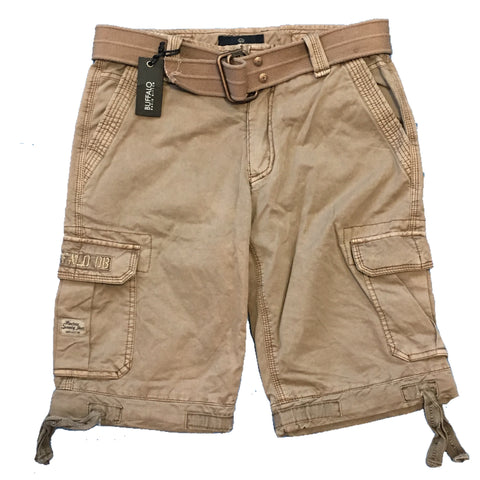 Buffalo David Bitton Chino Drawstring Hems Cargo Shorts Size 12