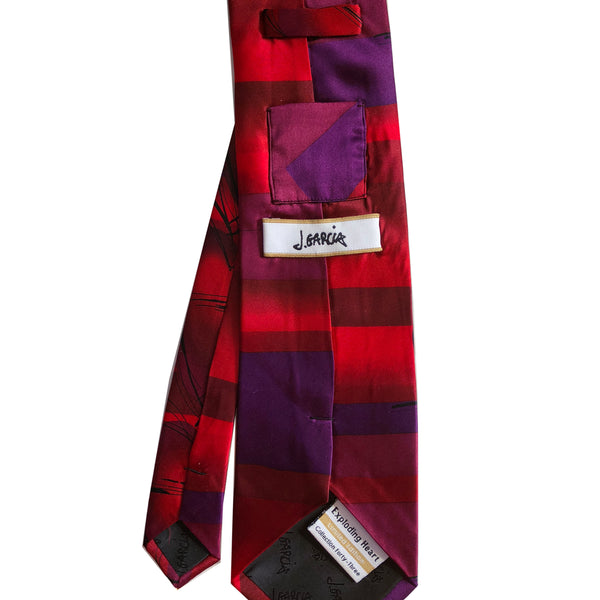 "J Garcia 2006 Exploding Heart Ltd Edition Collection Forty-Three 58"" Silk Tie"