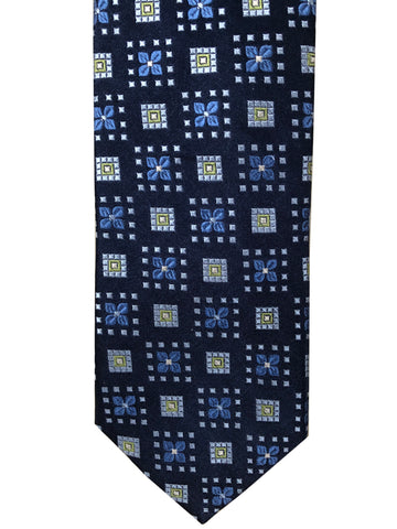 "Peter Millar Blue 100% Silk Hand Folded 62"" Long Tie"