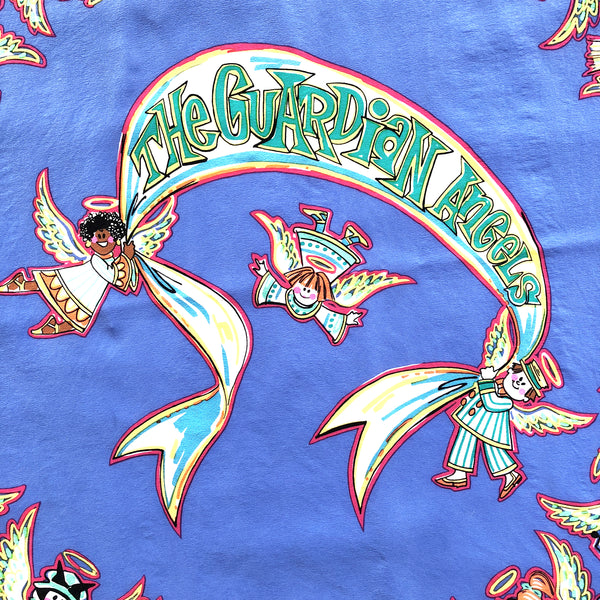 "Bob Mackie Wearable Art Guardian Angels 38""x40"" Silk Chiffon Scarf"