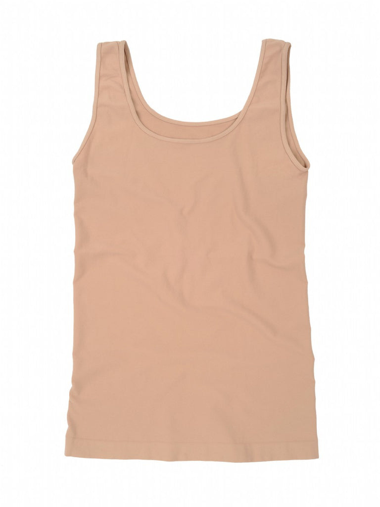 Tees by Tina Smooth Tank Top in Bare (Nude), OSFM - Swanky Bazaar