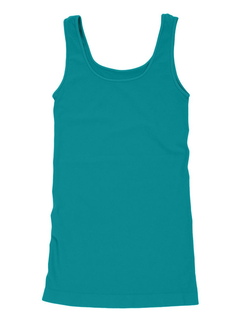 Tees by Tina Smooth Tank Top in Turquoise Blue, OSFM - Swanky Bazaar