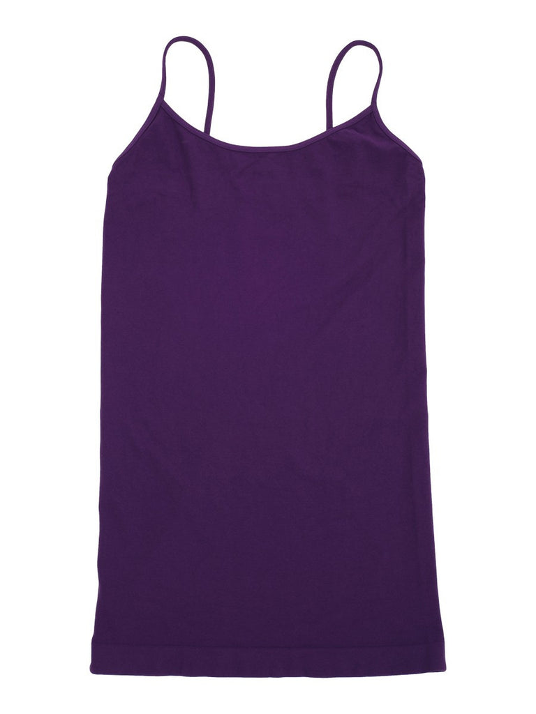 Tees by Tina Solid Cami Top in Plum (Purple), OSFM - Swanky Bazaar