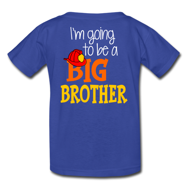 This Lil Firefighter Has A Secret Big Brother Kids' T-Shirt - royal blue