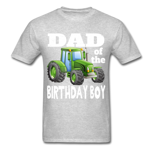 Green Tractor Dad of the Birthday Boy Men's T-Shirt - heather gray