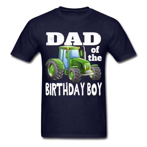 Green Tractor Dad of the Birthday Boy Men's T-Shirt - navy