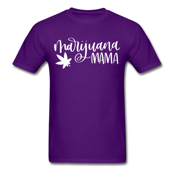 Marijuana Mama T-Shirt 3930 - purple
