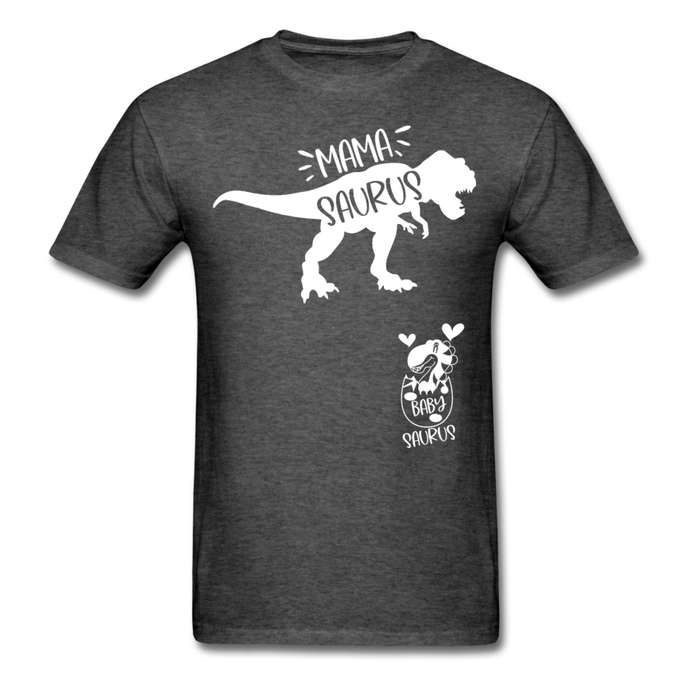 Mama Saurus T-Shirt 3930 - heather black