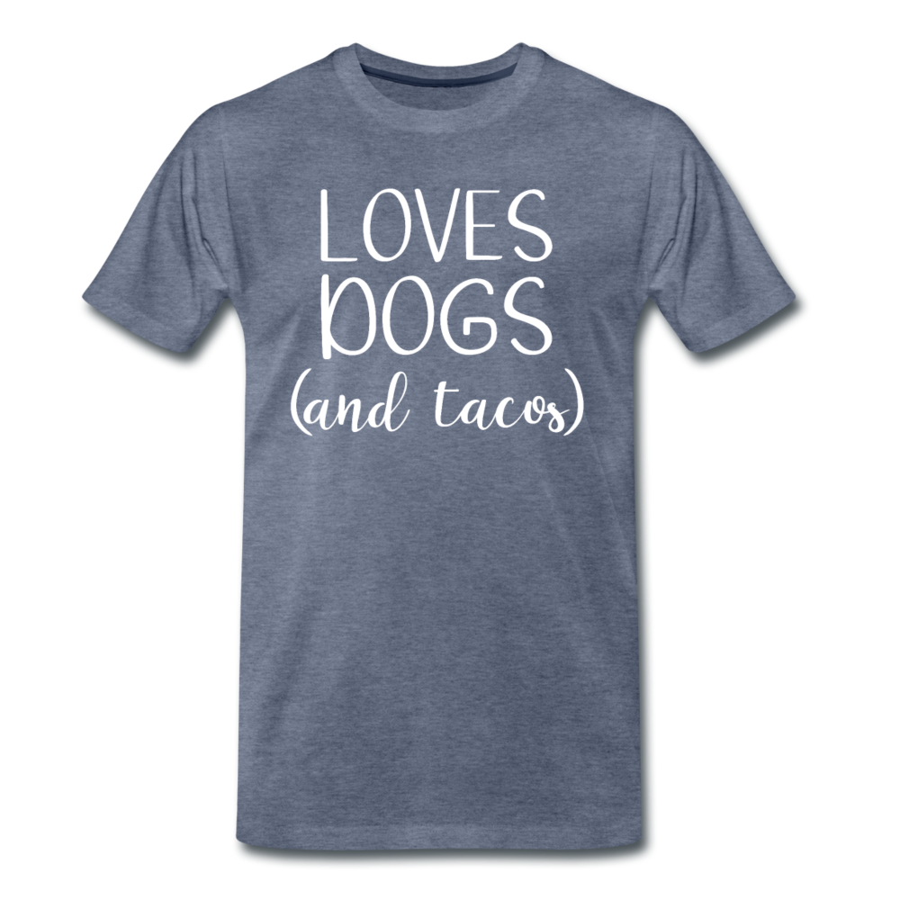 Loves Dogs and Tacos Premium T-Shirt - heather blue